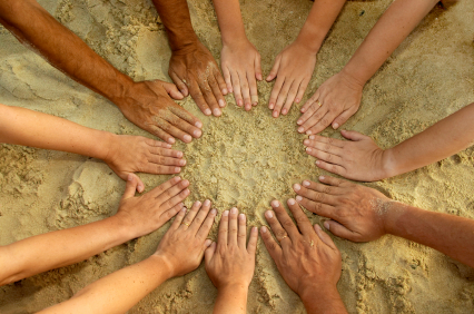 People's mandala - 12 hands