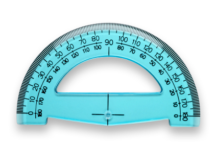 Protractor with clipping path
