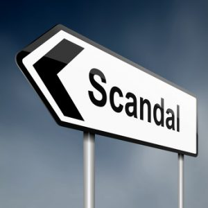 Scandal concept.