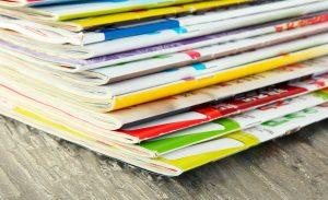 Many magazines close-up